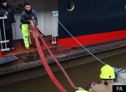 The fire service has been pumping water from the Britannia