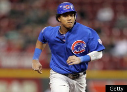 CINCINNATI, OH - SEPTEMBER 14: Starlin Castro #13 of the Chicago Cubs runs to third base during the game against the Cincinnati Reds at Great American Ball Park on September 14, 2011 in Cincinnati, Ohio. (Photo by Andy Lyons/Getty Images)