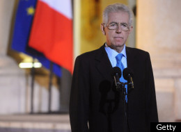 Recently elected Italian Prime Minister Mario Monti listens as French President Nicolas Sarkozy speaks after a meeting at the Elysee Palace on January 6, 2012 in Paris, France. The leaders are due for a series of meetings over the coming weeks to discuss their concerns of the Eurozone crisis and their nations respective positions ahead of the first EU Leaders' Summit of 2012 in Brussels at the end of January. (Getty)