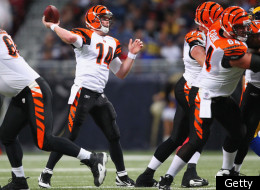 ST. LOUIS, MO - DECEMBER 18: Andy Dalton #14 of the Cincinnati Bengals passes against the St. Louis Rams at the Edward Jones Dome on December 18, 2011 in St. Louis, Missouri. (Photo by Dilip Vishwanat/Getty Images)
