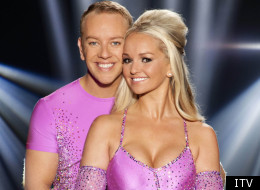 Jennifer Ellison with her Dancing On Ice partner