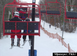 Ten lifts cart skiers and snowboarders up the slopes at Ski Bradford in Massachusetts.
