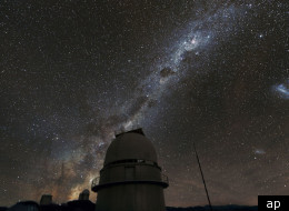 The Milky Way illuminates the sky above the dome of the Danish 1.54-metre telescope at ESO's La Silla Observatory in Chile