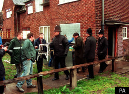 Police and bailiffs at the home of mother Ten Kay Pot in Wythenshaw, Manchester, after Manchester City Council won a court order to evict the family.