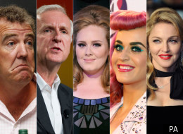 Jeremy Clarkson, James Cameron, Adele, Katy Perry and Madonna
