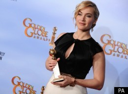 Kate Winslet wins a Golden Globe for her role in 'Mildred Pierce'