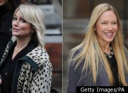 Lisa Byrne, Lucie Cave and Rosie Nixon arrive at the Leveson Inquiry