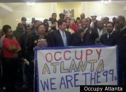 Occupy Atlanta press conference with HGEC