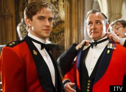 Dan Stevens and Hugh Bonneville in Downton Abbey