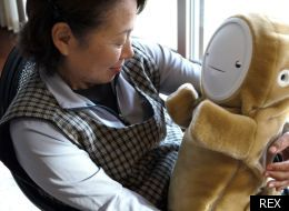 Robot Comforts Elderly Sufferers Of Depression