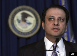U.S. Attorney Preet Bharara speaks during a news conference, Wednesday, Jan. 18, 2012 in New York. A hedge fund co-founder, four financial analysts and a Dell Inc. employee teamed up in a record-setting insider trading scheme that netted more than $61.8 million in illegal profits based on trades of a single stock, authorities said Wednesday.
