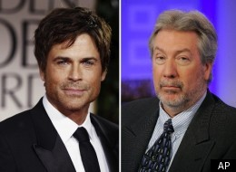 Rob Lowe (left) premiered Saturday in his latest role -- murder suspect Drew Peterson in
