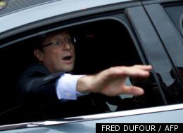François Hollande, à son arrivée au Bourget