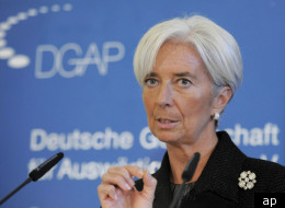 Christine Lagarde, head of the International Monetary Fund, called for more money to be made available for bailouts in the eurozone