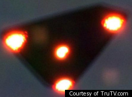 Some UFO researchers believe this image is of a triangle-shaped UFO that is the size of a large planet. NASA claims it is a reflection from within the satellite's lens of the planet Venus.