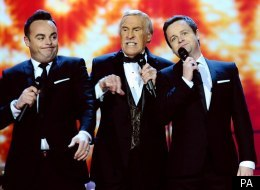 Bruce Forsyth joined Ant and Dec to introduce the National Television Awards with a musical number