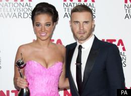 Tulisa Contostavlos and Gary Barlow at the National Television Awards