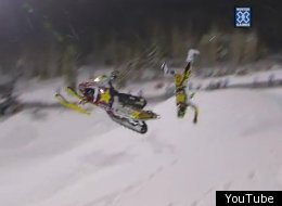 Colten Moore was still able to win the gold medal after this crash.