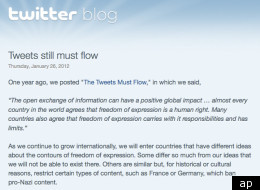 Twitter could be censored in certain countries