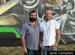 Dean Taha, left, and Daniel Wills are two of the many people involved in Wynwood Green, which aims to bring together the best in locally-owned businesses and organizations in a neighborhood that needs it.