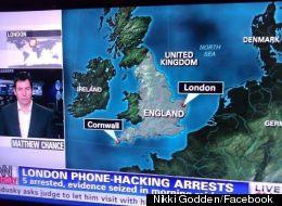 CNN International screenshot - showing London where Norwich should be