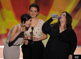 Kristen Wiig, Maya Rudolph and Melissa McCarthy at the 2012 SAG Awards.