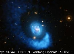 Abell 2052 is a galaxy located in the constellation Serpens, about 480 million light years from Earth