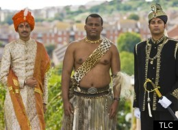 Crown Prince Mannendra with His Royal Highness Prince Africa Zulu and His Royal Highness Prince Remigius of Jaffna.