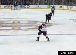 Dennis Seidenberg fires off a long-range goal for the Boston Bruins.