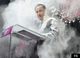 Francois Hollande was given a dusting