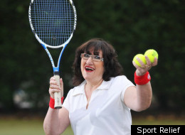 Alice Barry flashes for Sport Relief