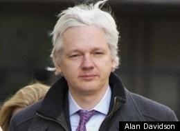 Julian Assange arrives at the Supreme Court