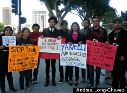 In Los Angeles, young Latino activists call for an end to Secure Communities and voice their support of Yanelli Hernandez.