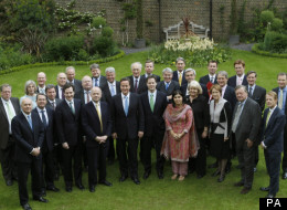 Huhne Is the third person to go from this orignal picture of David Cameron's Cabinet