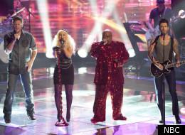 Blake Shelton, Christina Aguilera, Cee Lo Green, Adam Levine on