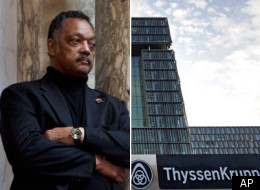 Headquarters of ThyssenKrupp AG are pictured prior the annual press conference of the German steel giant in Essen, Germany, Friday, Dec. 2, 2011.