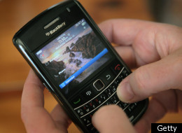 RIM has released a series of videos showcasing BlackBerry's durability. (Getty photo)