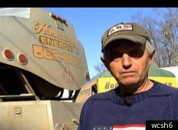 Ike Libby stands outside his business Hometown Energy in Dixfield, Maine