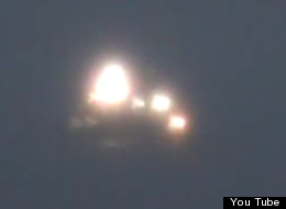 This footage of a flashing orb was filmed above the Thames Estuary