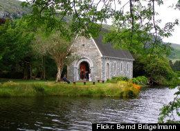 The beautiful Gougane Barra in Cork, Ireland, hosts many wedding ceremonies.