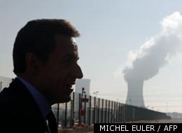 Nicolas Sarkozy, lors d'un déplacement au Tricastin le 25 novembre 2011