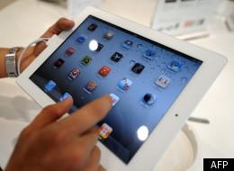 Un iPad en démonstration.