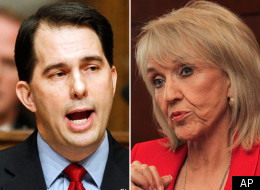 Wisconsin Gov. Scott Walker and Arizona Gov. Jan Brewer, who both have been affiliated with ALEC, both support bans on collective bargaining that are similar to model legislation promoted by ALEC.