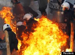 Manifestations sur la place Syntagma à Athènes