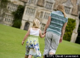Mother and daughter at Anglesey Abbey during February half term