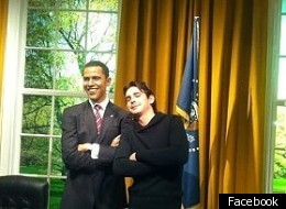 Convicted drug dealer Michele Grosso was caught by cops after posting this picture with (wax) President Obama.