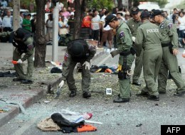 The scene in Bangkok after the explosion