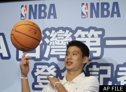FILE: Jeremy Lin spins a basket ball during a press conference, Wednesday, July 28, 2010, in Taipei, Taiwan. Lin was the first Taiwanese American to join the NBA.