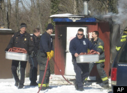 Firefighters saved some 200 pounds of kielbasa from a smokehouse. It smelled great.