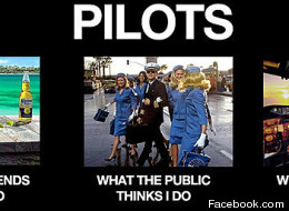 What pilots think they do/actually do